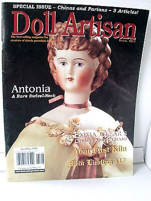 DOLL ARTISAN  Porcelain dolls techniques clothes dressing ideas  MAY  1998