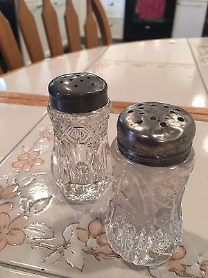 Antique Cut Glass Salt Shakers