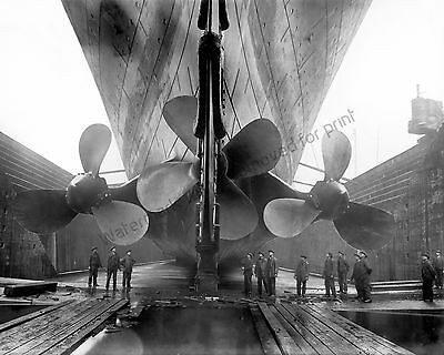 RMS TITANIC 8x10 Photograph White Star Line Ocean Liner in 1912 Photo Image Ship