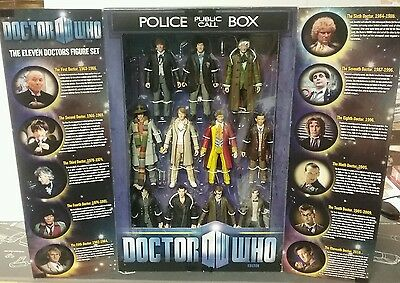 Doctor Who Tardis Anniversary Figure Set - The Eleven Doctors - New and Sealed