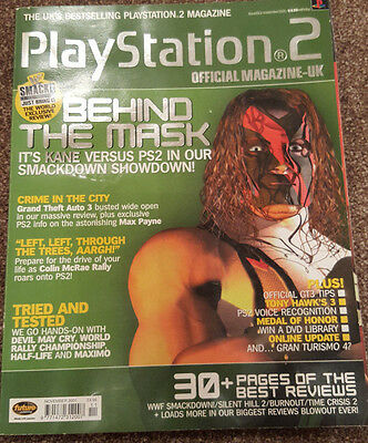 Official Uk Playstation 2 Magazine Issue No.13--Wwf Smackdown Cover