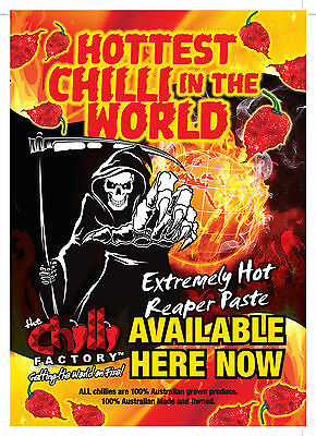 Hot Chilli Morning Afterburn 10/10  & Hottest Chilli Carolina Reaper Paste 15++