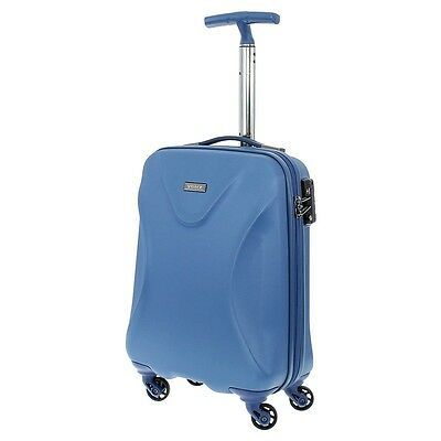 march15 trading - Twist Hartschalen Bordcase blau TSA Reisekoffer 55cm 40Liter
