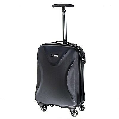 march15 trading-Twist Hartschalen Bordcase schwarz TSA Reisekoffer 55cm 40Liter