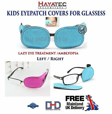 NEW Medical Occlusion Eye Patch For Glasses/ specs Amblyopia one eye Children UK