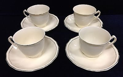 Vintage Alfred Meakin Cup and Saucer Sets with Gold Trim