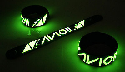 Avicii NEW! Glow in the Dark Rubber Bracelet Wristband Wake Me Up vg259