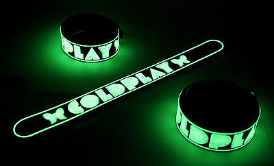 Coldplay NEW! Glow in the Dark Rubber Bracelet Wristband Paradise vg216