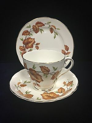 Vintage Adderley Tea Cup Saucer and Cake Plate 495