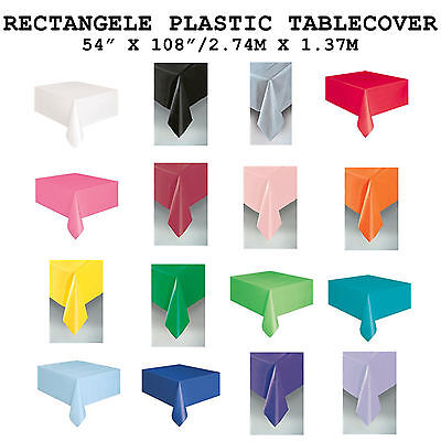 Plastic Rectangle Tablecloth Tablecover Party Birthday Wedding Baby Shower BBQ