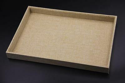 1x Linen Display Cases Tray Jewellery Organisers 35x24x3cm Showcase Reliable SYD