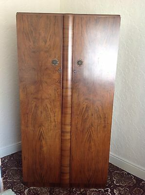 Art Deco Walnut Double Wardrobe