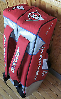 Large DUNLOP tennis bag - BackPack - excellent condition - 8 pack - Red & grey
