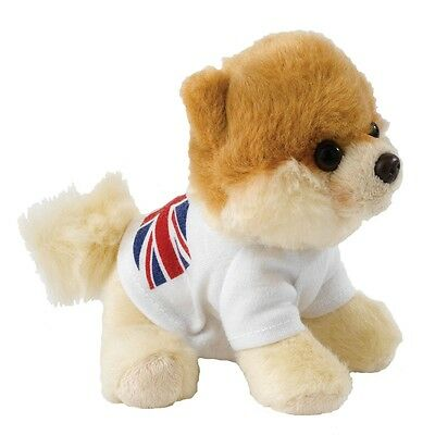 GUND Itty Bitty Boo - British Flag T-shirt -The Worlds Cutest Dog - Soft Toy