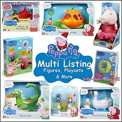 New PEPPA PIG George Multi Listing Toys Figures Vehicle Playsets Christmas Gift