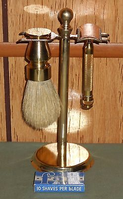 1920s Old Type Gillette w Brush and Stand / reduced price