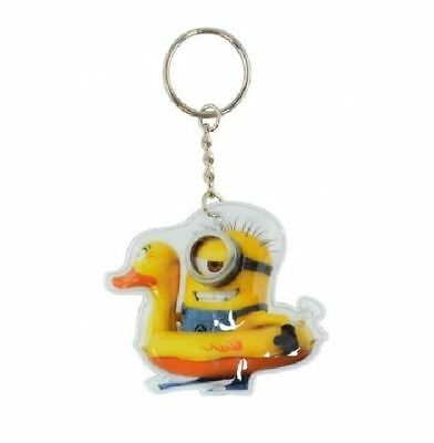 Despicable Me Minion Rubber Duck Light Up Torch Keyring New in Packaging Gift