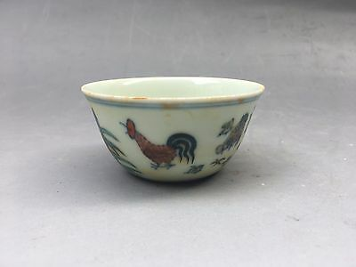 Ming chenghua Mosaic, bucket color cylinder cup chicken