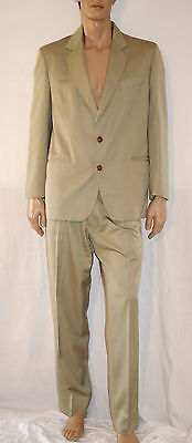 OVER TOP Completo Abito Uomo Giacca+Pantalone Vintage Orig '70 Verde Salvia T 50