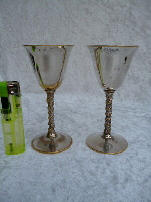 2 kleine Kelche - Weinkelche - FALSTAFF Silver Plaited Made in Spain