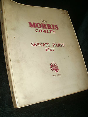 Morris Cowley 1200 & 1500 Parts Catalogue