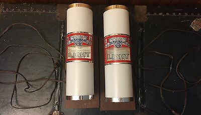 2 Vintage Budweiser Light Bar Wall Lights, Working, Mancave