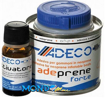 COLLA PER GOMMONI IN NEOPRENE/HYPALON ADECO ''ADEPRENE FORTE''125ml +ATTIVATORE