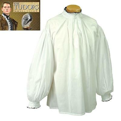 King Henry Courtly White Shirt, Perfect For Reenactment Stage Costume & LARP