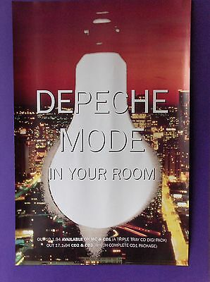 """Depeche Mode In Your Room 29""""x19"""" 1994 ORIGINAL PROMO POSTER Mute songs of faith"""