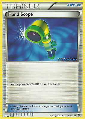 Hand Scope 96/119 - Xy Phantom Forces Pokemon Holo Trainer Card