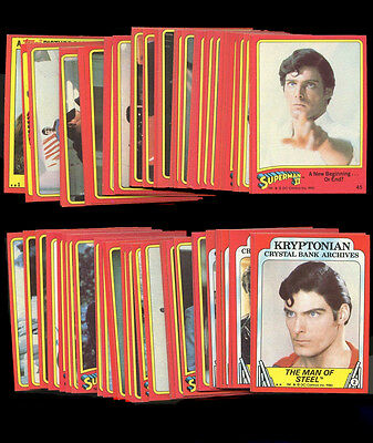 Topps SUPERMAN II Set of Trading Cards Set of 88 cards