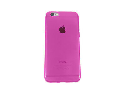 For Apple iPhone 6S 6 Silicone Clear Case Soft Gel Cover Bumper Rubber Skin Pink
