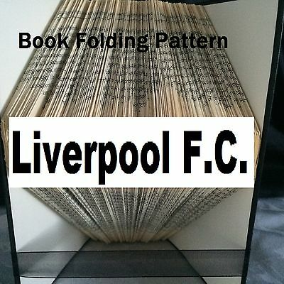 Book folding art Liverpool F.C. book folded Pattern for any Fan (pattern only)