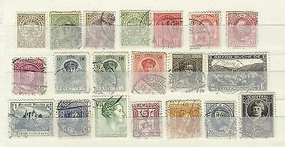 Lot de timbres Luxembourg ancien