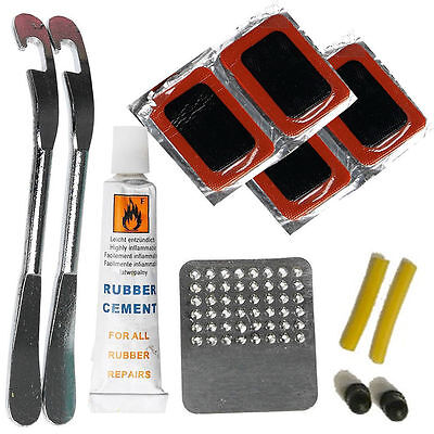 Bike Tyre Tube Bicycle Puncture Glueless Repair Tool Kit Cycle Glueless Patches