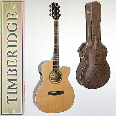 Timberidge Trfc-6-Nst Small-Body Rosewood Acoustic-Electric Guitar & Case