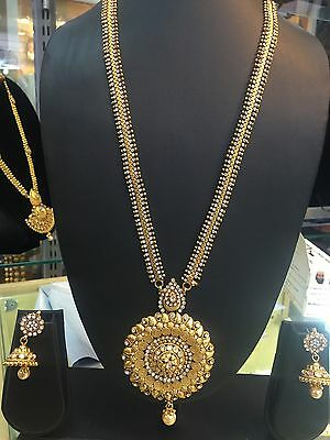 REDUCED TO CLEAR! Gold Plated Copper Indian Jewellery Necklace Earrings Set