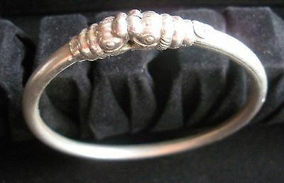 Vintage HR Signed Sterling Silver Makara Dragon Bangle 10.4 grams Child/Teen