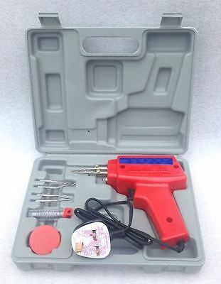 100W Electric Soldering Iron Solder Gun Kit + 3 Tips + Case 100 Watt 240V New