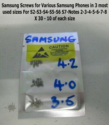 Samsung Galaxy Replacement Screws Original S3/S4 /Note 2 /Note 3 /Note 4 X 20