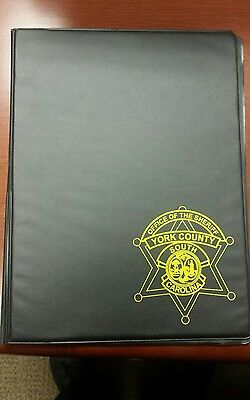 York County Sheriff Notebook Cover