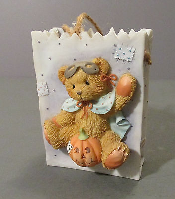 "1995 Cherished Teddies ""Trick or Treat"" Halloween Treat Bag Figurine #141879"