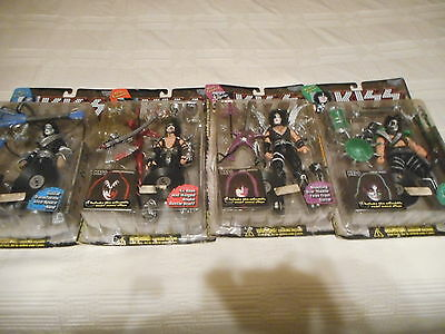 Set 4 Kiss McFarlane Action Figures Boxed