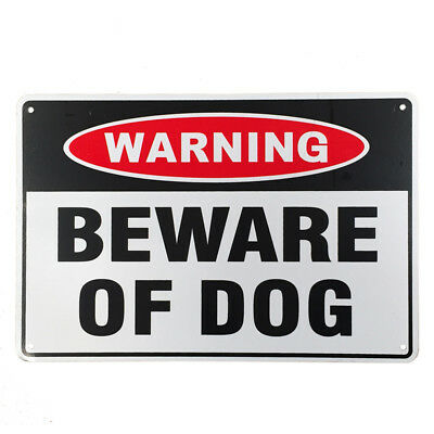 2x WARNGING SIGN BEWARE OF DOG 200x300 mm Metal Security Safe Home Farm 16003026