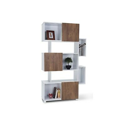 RODDY Scandinavian Retro Modern Wall Unit Room Divider Display Cabinet Bookshelf