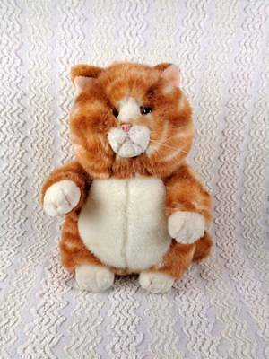 Russ PRUDENCE Plush Pudgy Orange Ginger Tabby Cat Kitten Adorable 9""
