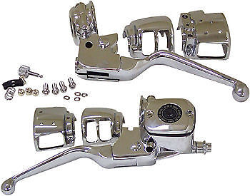 Harley Softail Chrome Hand Control Kit And Switch Housings. 96-06