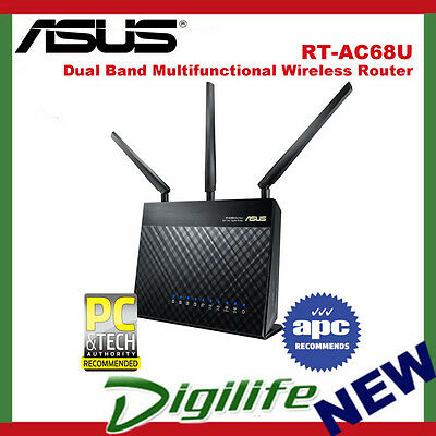 ASUS RT-AC68U AC1900 Concurrent Dual Band Multifunctional Wireless Router