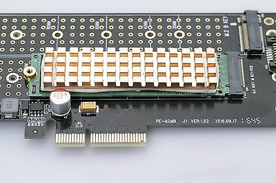 Copper Heat Sink for the M.2 2280 NVMe or SATA SSD 4mm thickness