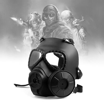 BB Airsoft Paintball Sport Full Face Tactical Protect Mask Pellet Goggle Black